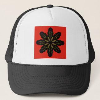 Mandala RED BLACK Trucker Hat