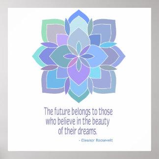 Mandala Roosevelt Beauty Quote Poster