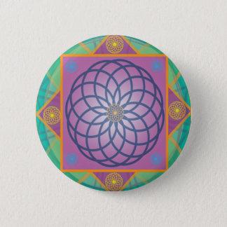 Mandala-Round 6 Cm Round Badge