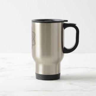 Mandala. Round black and white oriental pattern. Travel Mug
