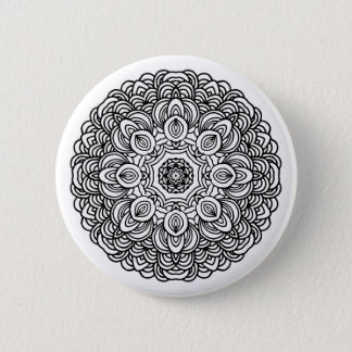 Mandala Round Button