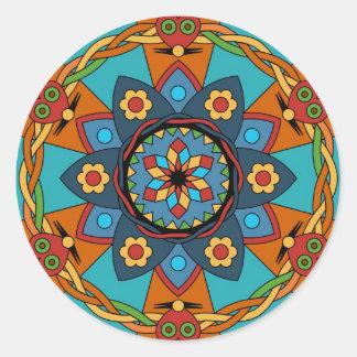 mandala round sticker