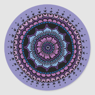 Mandala Round Sticker