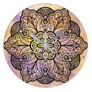 Mandala Round Wall Clock