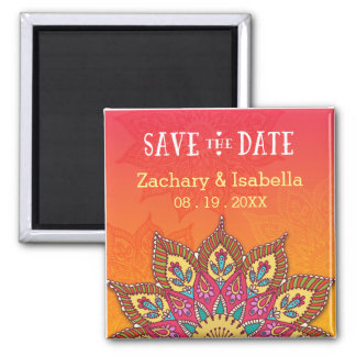 "Mandala Save the Date 2"" Magnet"