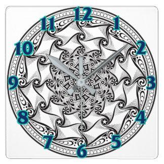 Mandala Scroll Clock
