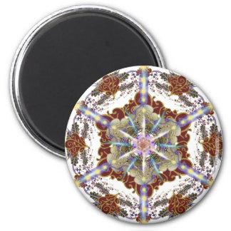 Mandala Seal of Sarah 6 Cm Round Magnet