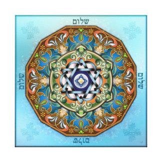 Mandala Shalom Canvas Print