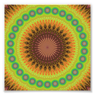 Mandala star circle photo print