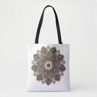 Mandala stock market tote bag