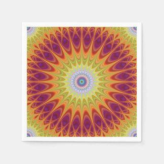 Mandala sun disposable napkin