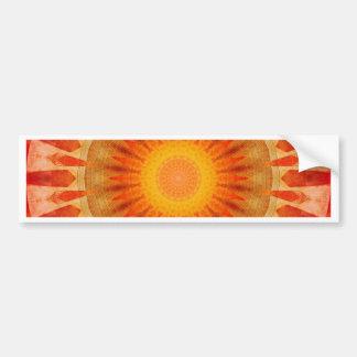 Mandala sunset bumper sticker