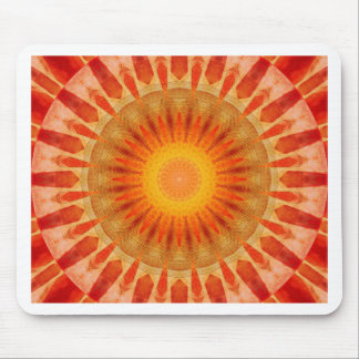 Mandala sunset mouse pad