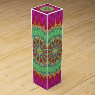 Mandala symbol wine box