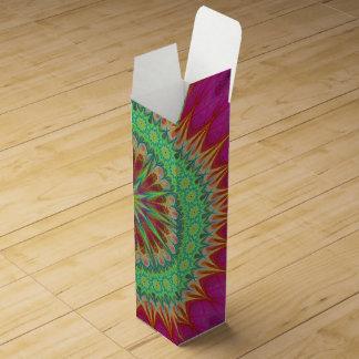 Mandala symbol wine gift box