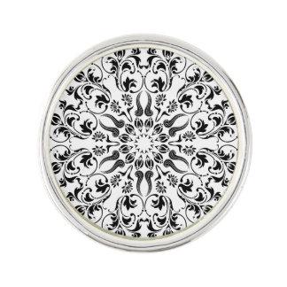 Mandala themed wearable art lapel pin