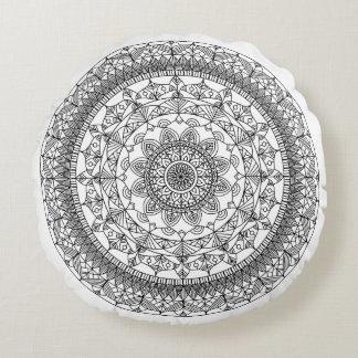Mandala Throw Pillow Round - Customizable