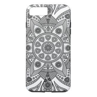 Mandala Tiga Abu Abu iPhone 8 Plus/7 Plus Case