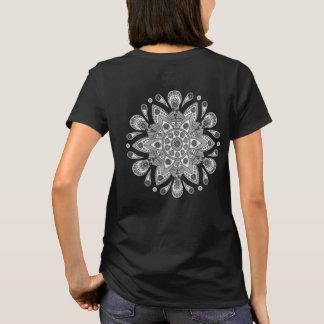 Mandala Tiga Abu Abu T-Shirt