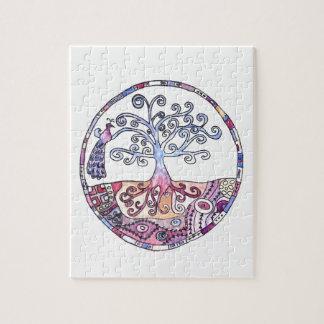 Mandala - Tree of Life in Paradise Jigsaw Puzzle