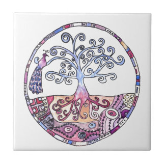 Mandala - Tree of Life in Paradise Tile