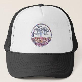 Mandala - Tree of Life in Paradise Trucker Hat