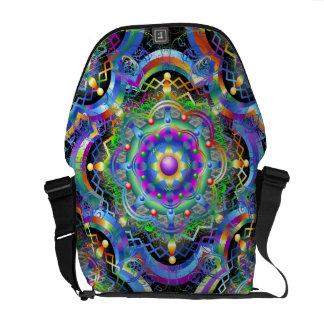 Mandala Universe Colors Messenger Bags