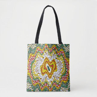 Mandala Wave Tote Bag