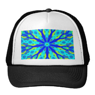 Mandala With Blue Aqua And Yellow Cap
