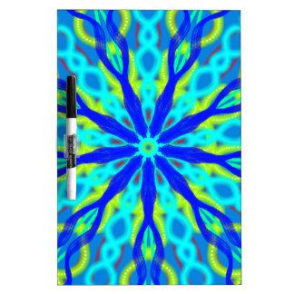 Mandala With Blue Aqua And Yellow Dry Erase Whiteboards
