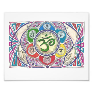 Mandala With Four Hands Photo Print