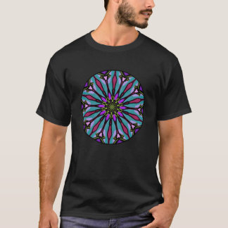Mandala with purples and blue teals. T-Shirt