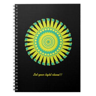 Mandala yellow and blue notebook