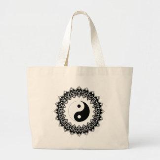 Mandala Yin Yang Jumbo Bag