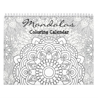 Mandalas Adult Colouring Calendar 2018