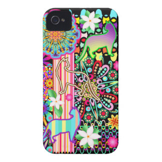 Mandalas, Cats & Flowers Fantasy Pattern iPhone 4 Case-Mate Cases