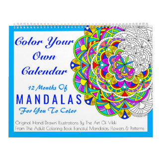 Mandalas Colour Your Own Personalised Colour This Wall Calendars