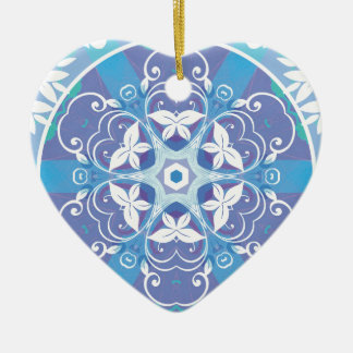 Mandalas from the Heart of Freedom 10 Gifts Ceramic Heart Decoration