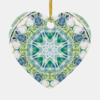 Mandalas from the Heart of Freedom 12 Gifts Ceramic Heart Decoration