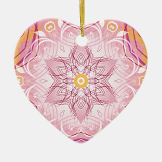 Mandalas from the Heart of Freedom 1 Gifts Ceramic Heart Decoration