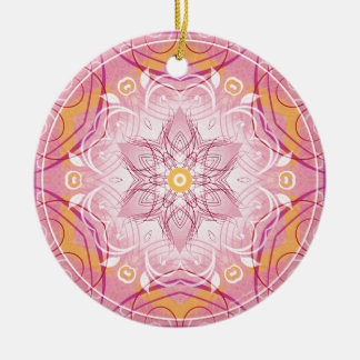 Mandalas from the Heart of Freedom 1 Gifts Round Ceramic Decoration