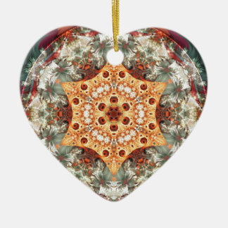Mandalas from the Heart of Freedom 24 Gifts Ceramic Heart Decoration