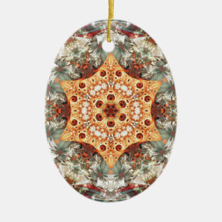 Mandalas from the Heart of Freedom 24 Gifts Ceramic Oval Decoration