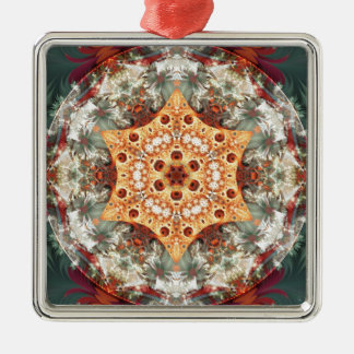 Mandalas from the Heart of Freedom 24 Gifts Silver-Colored Square Decoration