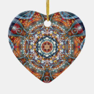 Mandalas from the Heart of Freedom 25 Gifts Ceramic Heart Decoration