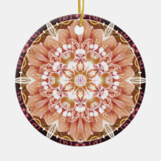 Mandalas from the Heart of Freedom 2 Gifts Round Ceramic Decoration