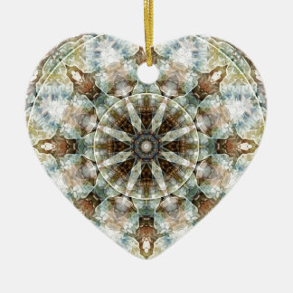 Mandalas from the Heart of Freedom 3 Gifts Ceramic Heart Decoration