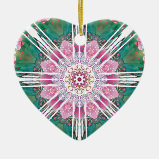 Mandalas from the Heart of Freedom 7 Gifts Ceramic Heart Decoration