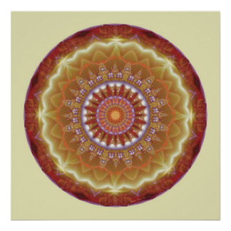Mandalas from the Heart of Peace, No. 12 Poster