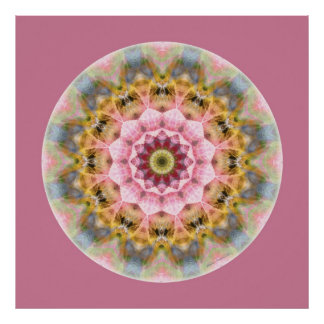 Mandalas from the Heart of Transformation, No. 1 Poster